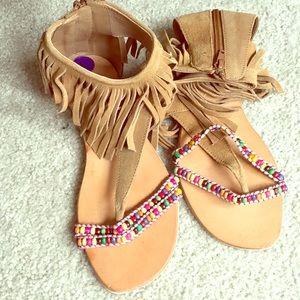 Rebels Native American inspired sandals